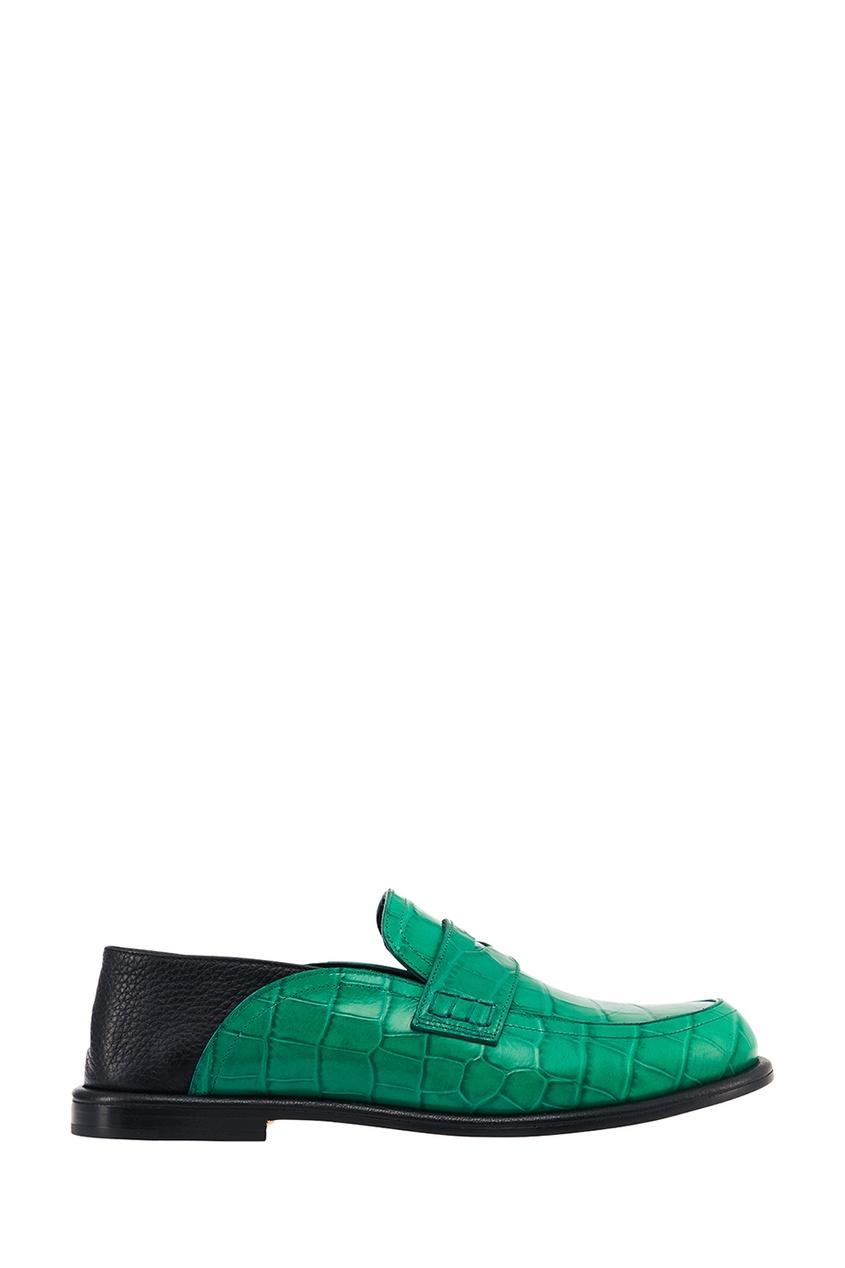 LOEWE Зеленые лоферы из тисненой кожи лоферы lauritta лоферы
