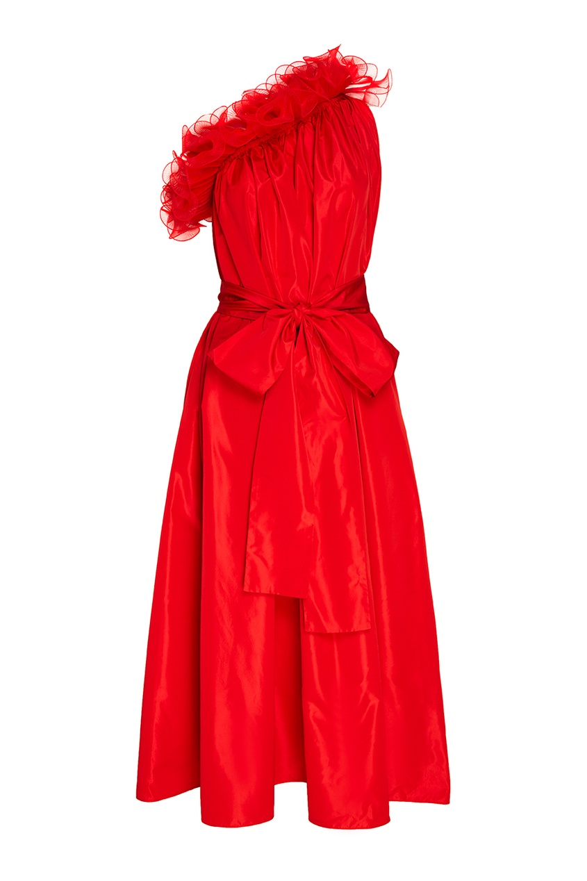 Stella McCartney Красное платье из шелковой тафты stella mccartney красное платье с асимметричным подолом