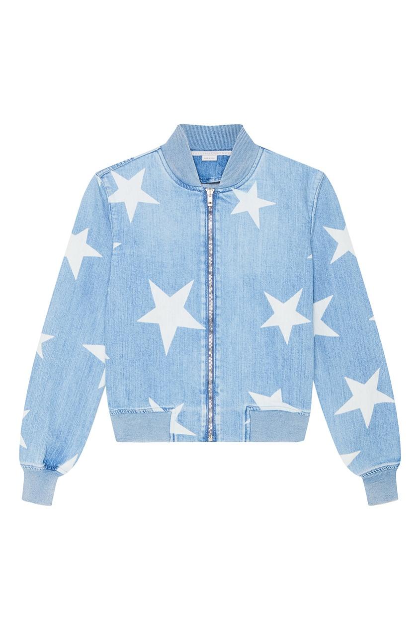 Stella McCartney Джинсовая куртка со звездами stella mccartney белая футболка со звездами