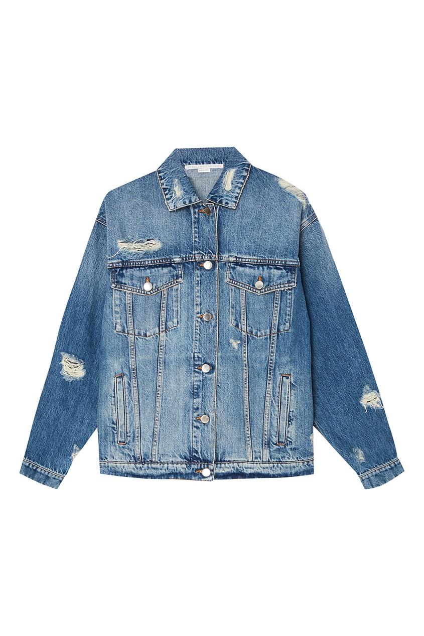 Stella McCartney Джинсовая куртка с прорезями stella mccartney блузка с жатым эффектом