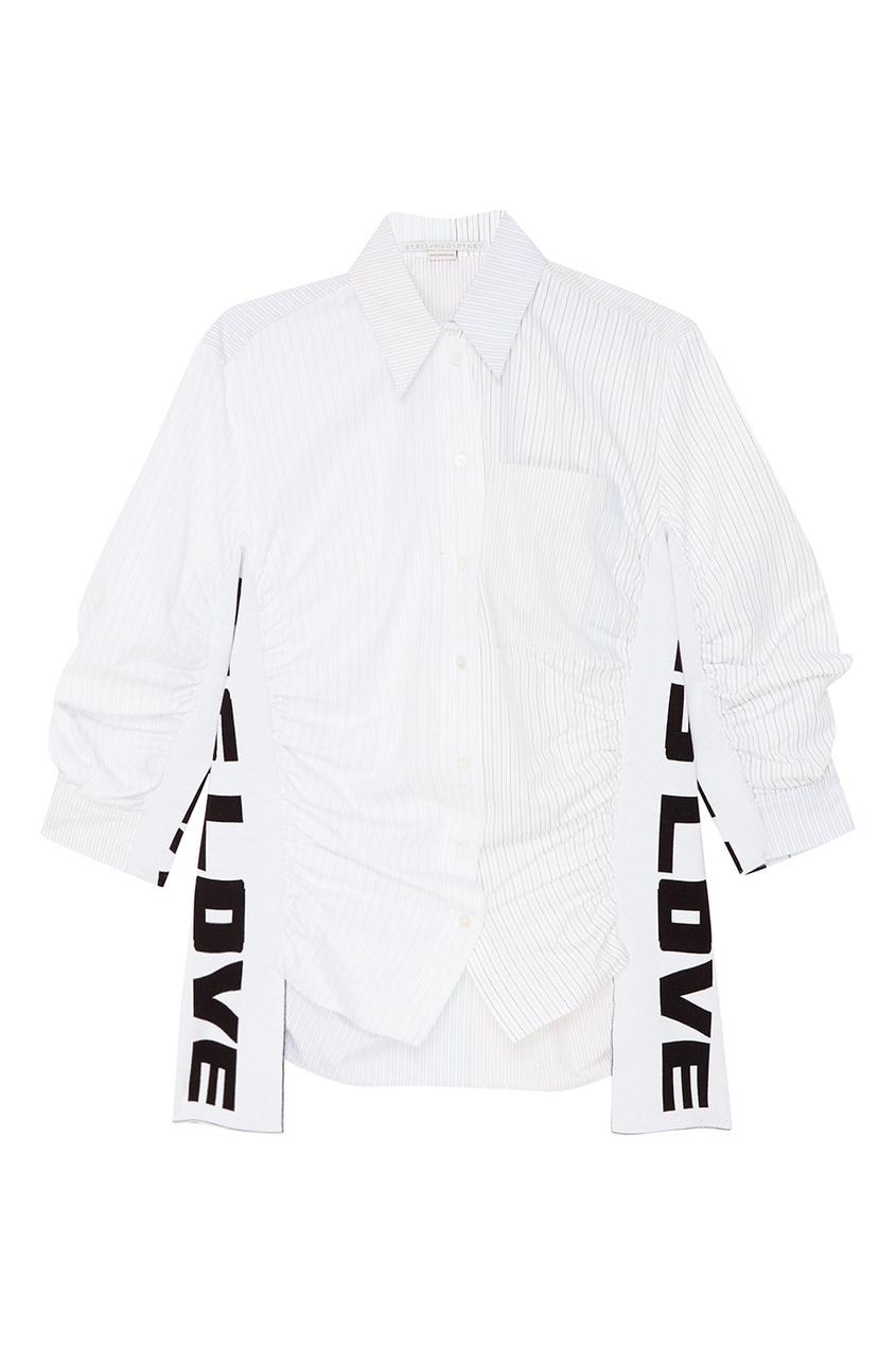 Stella McCartney Рубашка с декором по бокам рубашка поло stella plays printio слава красной армии