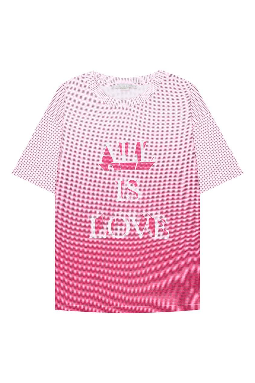 Stella McCartney Хлопковая футболка с принтом stella mccartney белая футболка со звездами