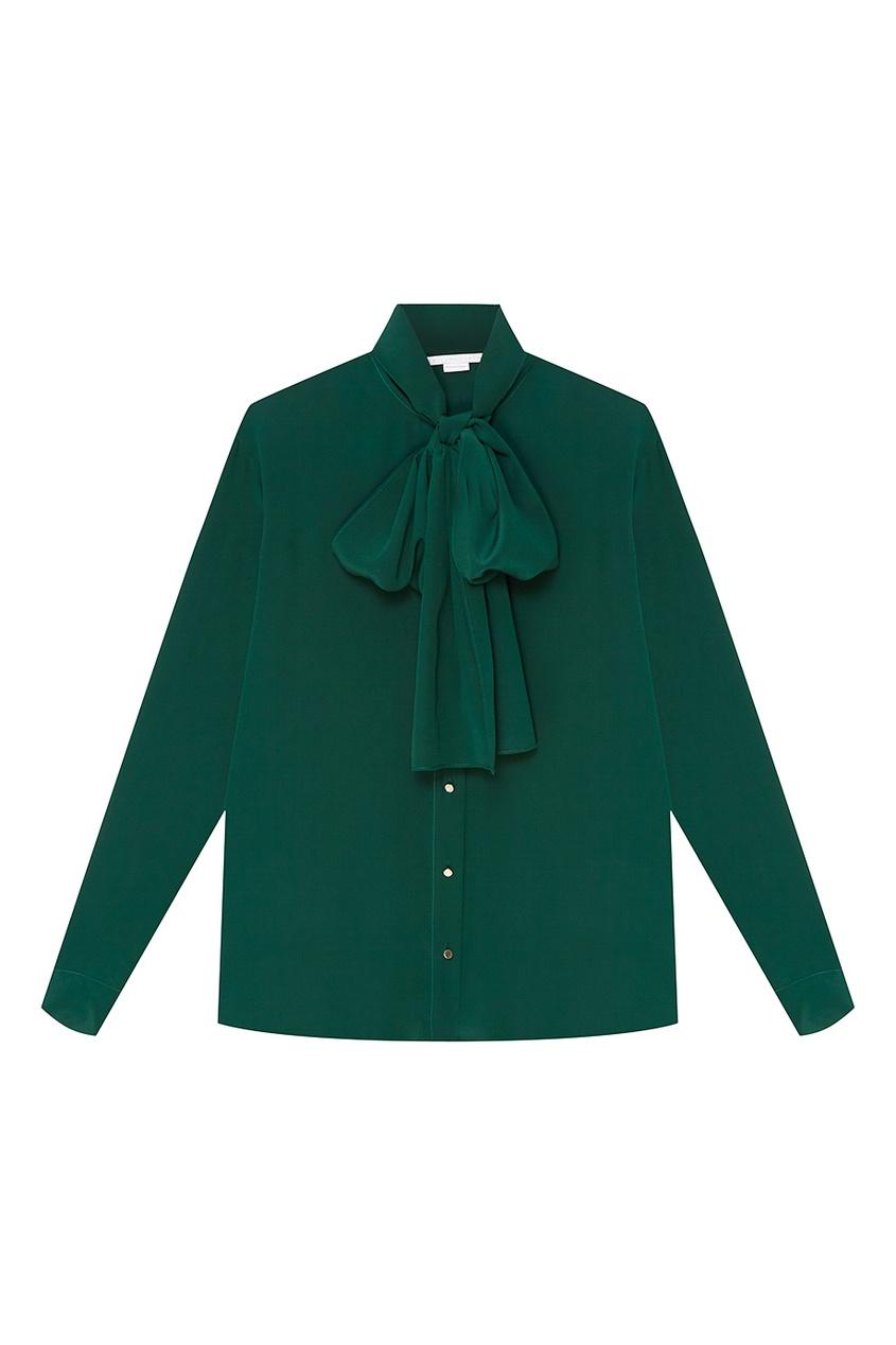 Stella McCartney Зеленая блузка из шелка stella mccartney блузка с жатым эффектом