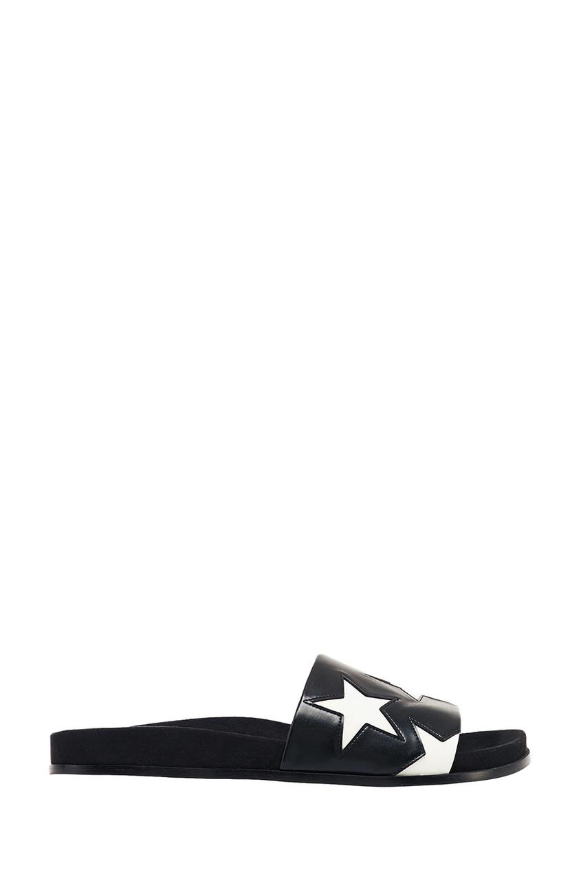 Stella McCartney Черные сандалии со звездами stella mccartney белая футболка со звездами
