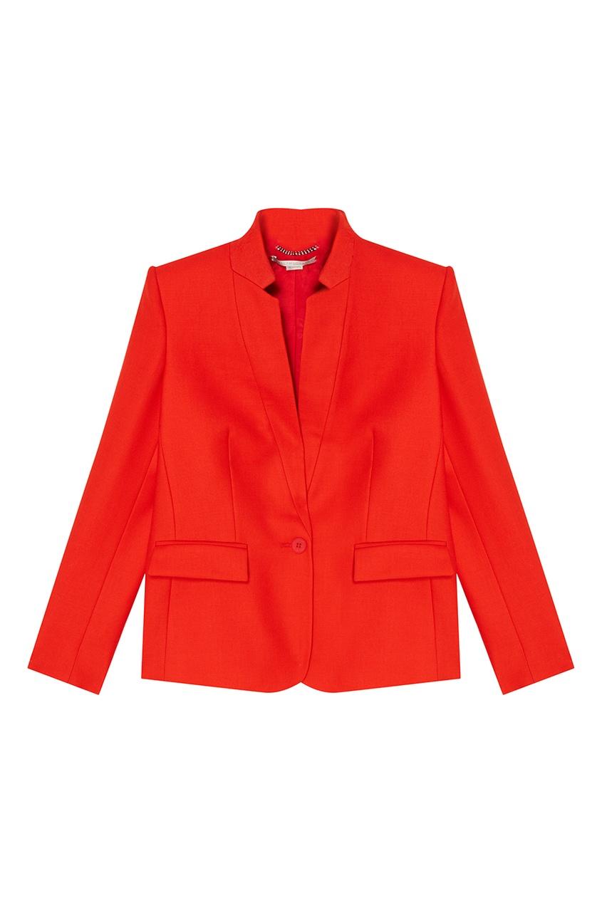 Stella McCartney Красный шерстяной жакет stella mccartney шерстяной свитер