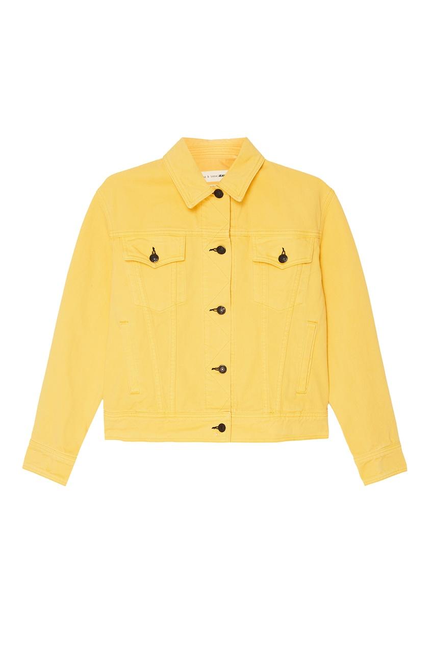 Rag&Bone Желтая джинсовая куртка куртка голубого цвета brums ут 00008775