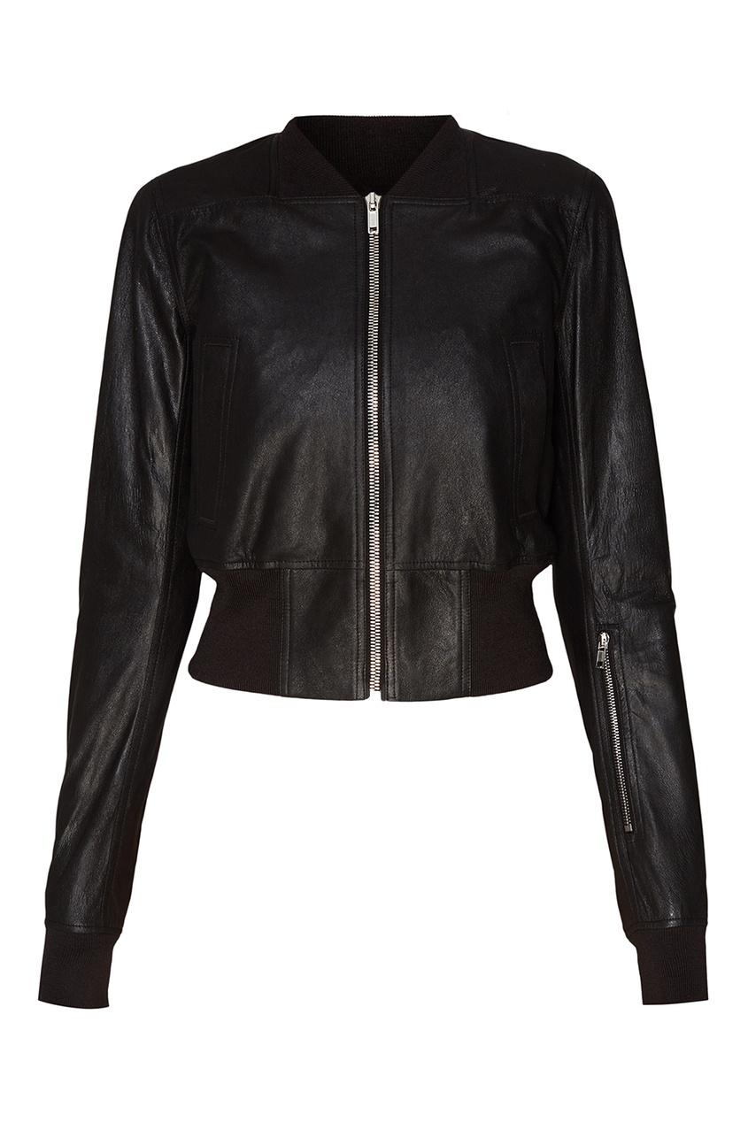Rick Owens Черная кожаная куртка куртка голубого цвета brums ут 00008775