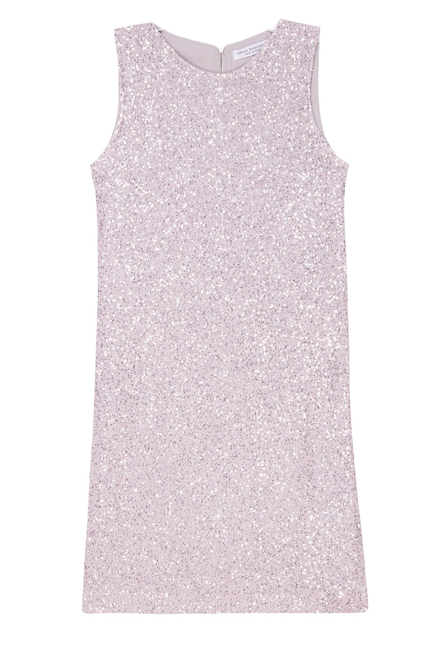 Amina Rubinacci Платье с пайетками розового цвета Stupore цена