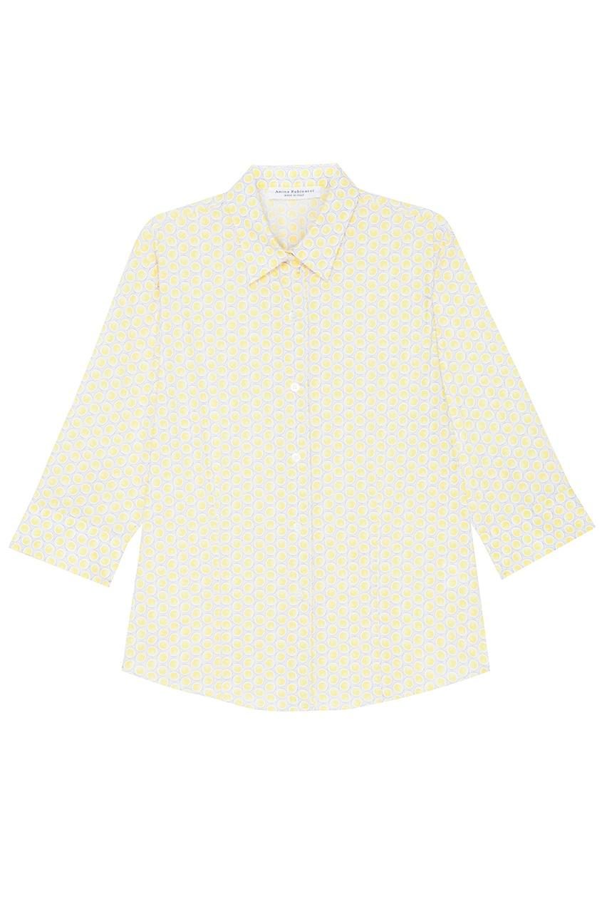 Amina Rubinacci Хлопковая рубашка в горошек You рубашка в мелкий горошек