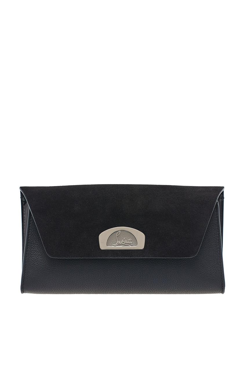 Christian Louboutin Черный комбинированный клатч Vero Dodat Clutch клатч galib клатч