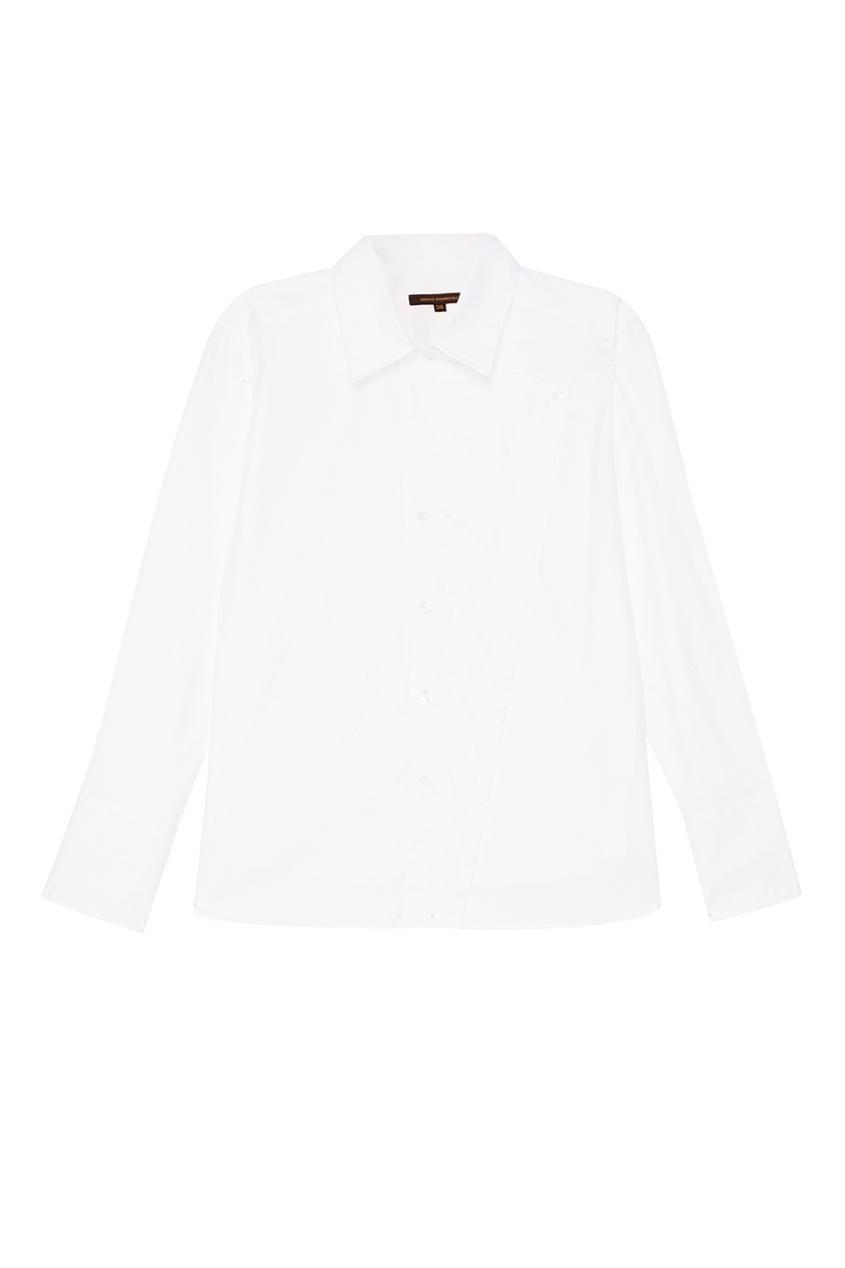 Adolfo Dominguez Белая рубашка из хлопка осенние новый пиджак обрезанное корейской версии новый осенний износ тонкая белая рубашка леди рукава белая рубашка