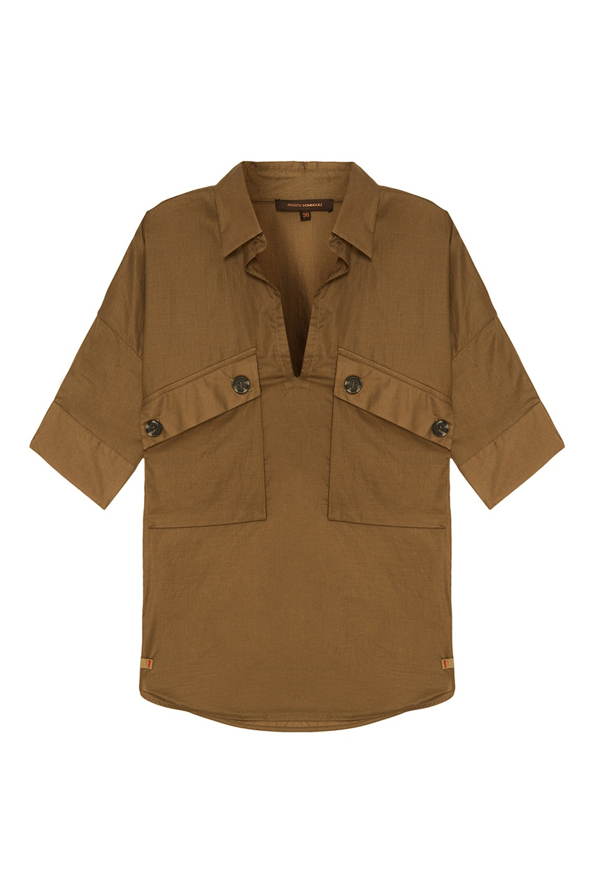 Adolfo Dominguez Хлопковая рубашка милитари в минске рубашку милитари