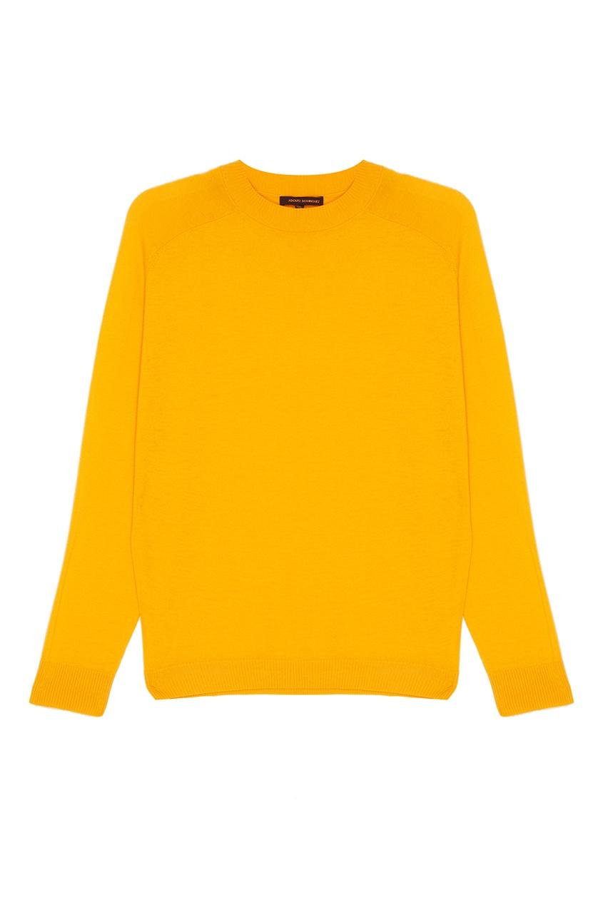 Желтый шерстяной джемпер