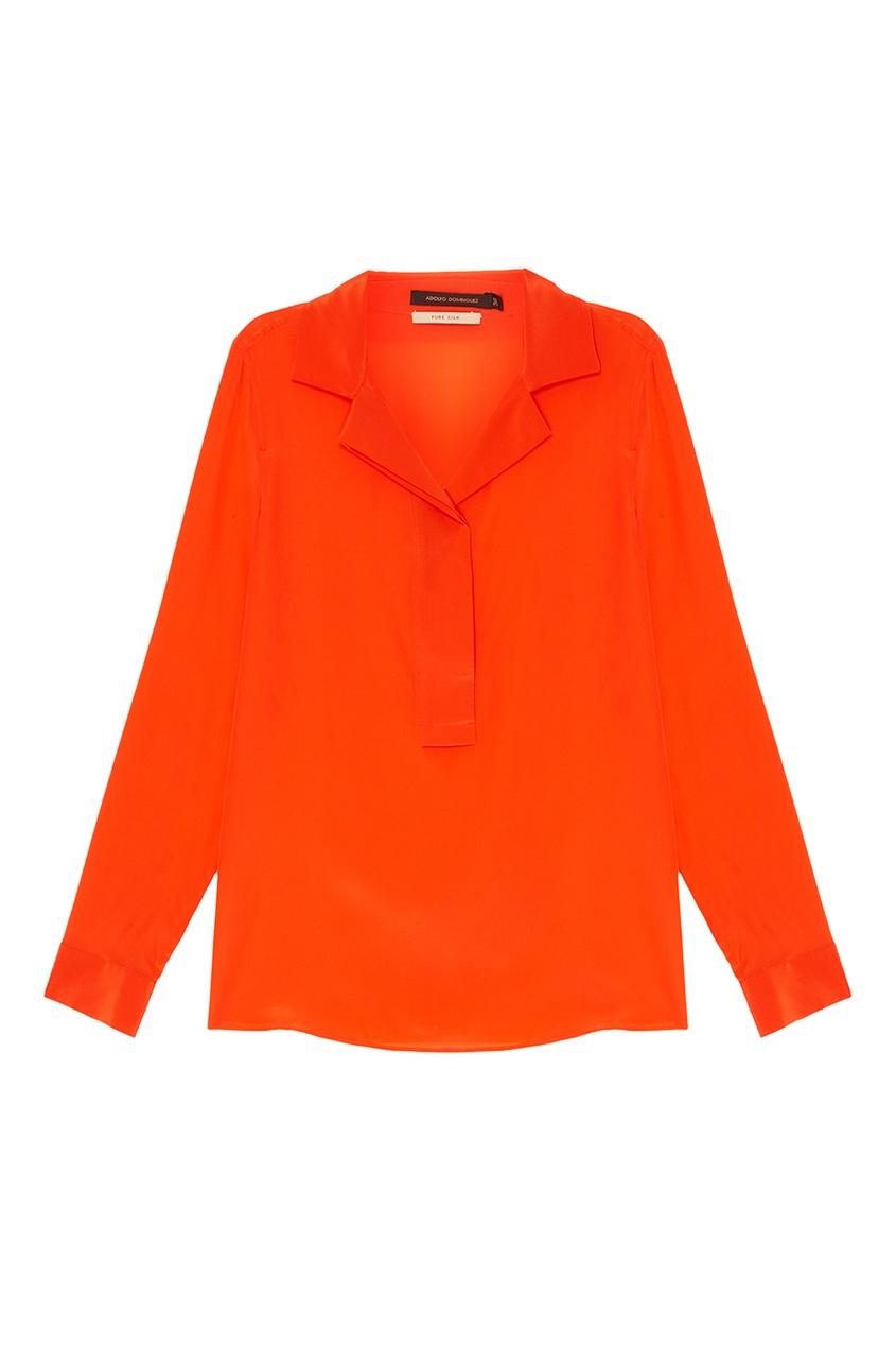 Adolfo Dominguez Оранжевая блузка из шелка