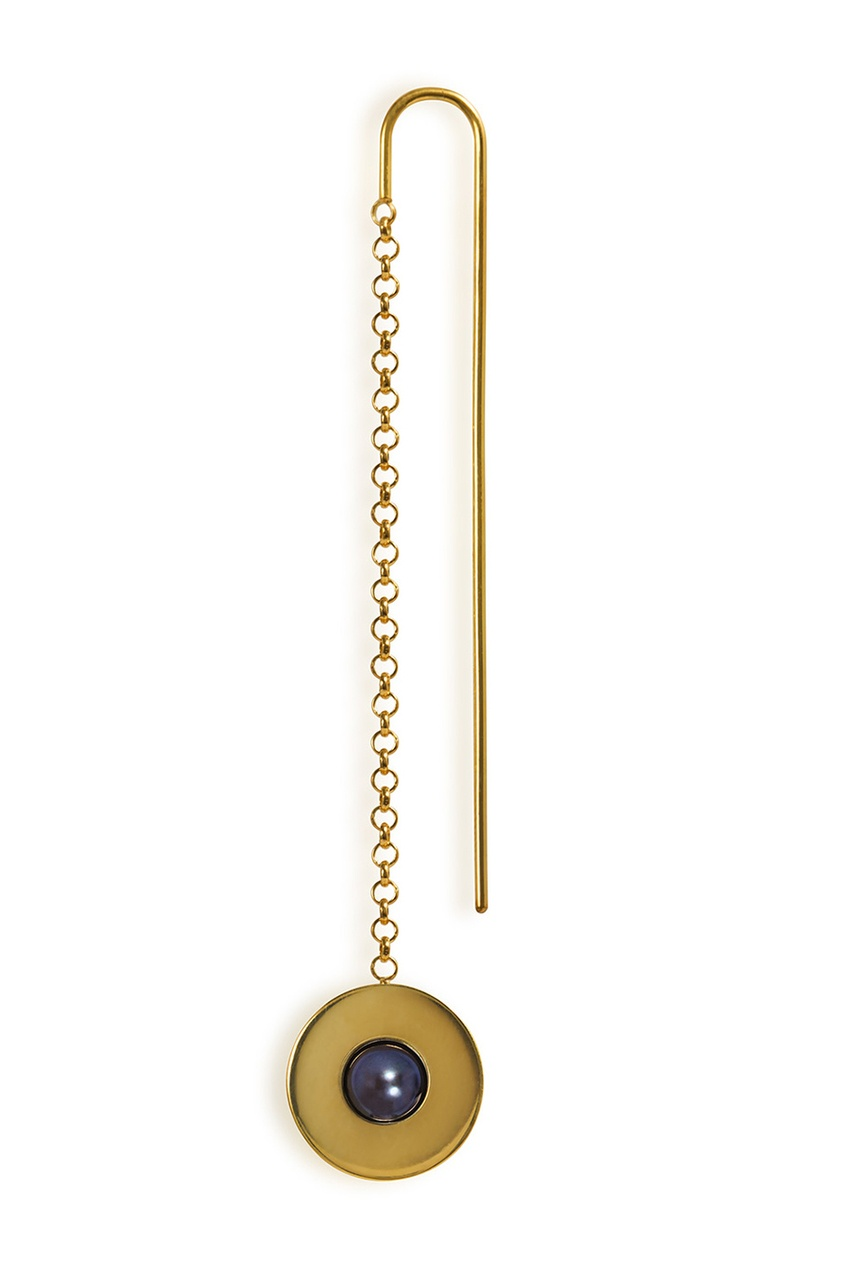Моно-серьга позолоченная с жемчугом Forma