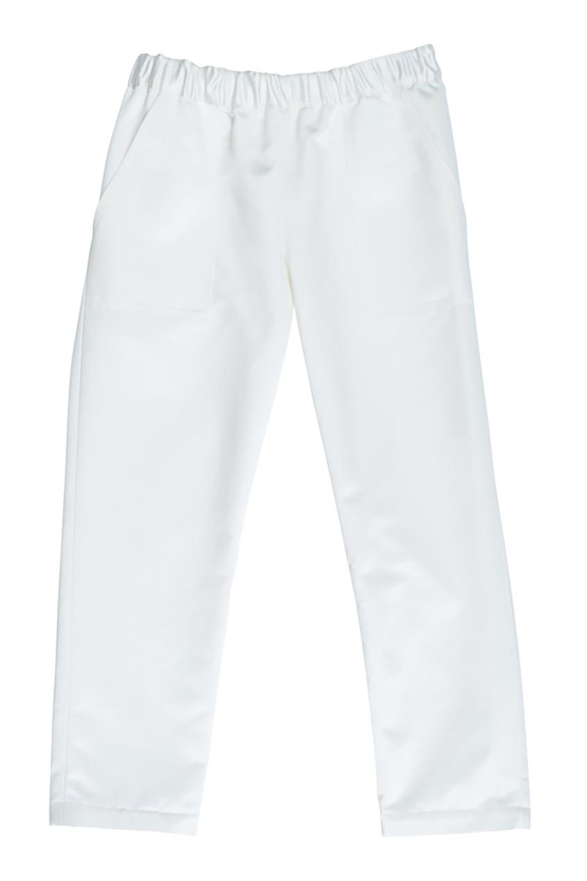 Bonpoint Атласные белые брюки FRIEND constance c белые брюки с кнопками