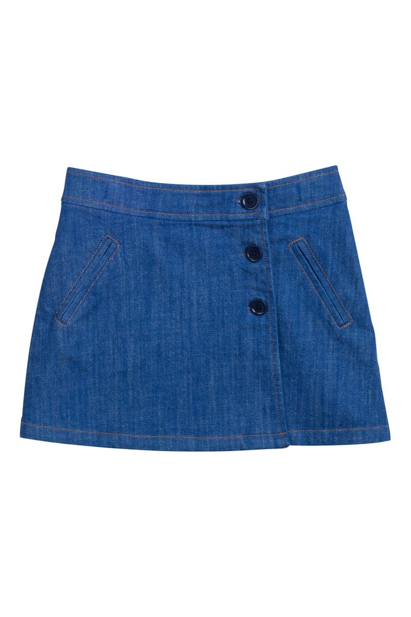 где купить Bonpoint Джинсовая юбка с запахом GRAF по лучшей цене