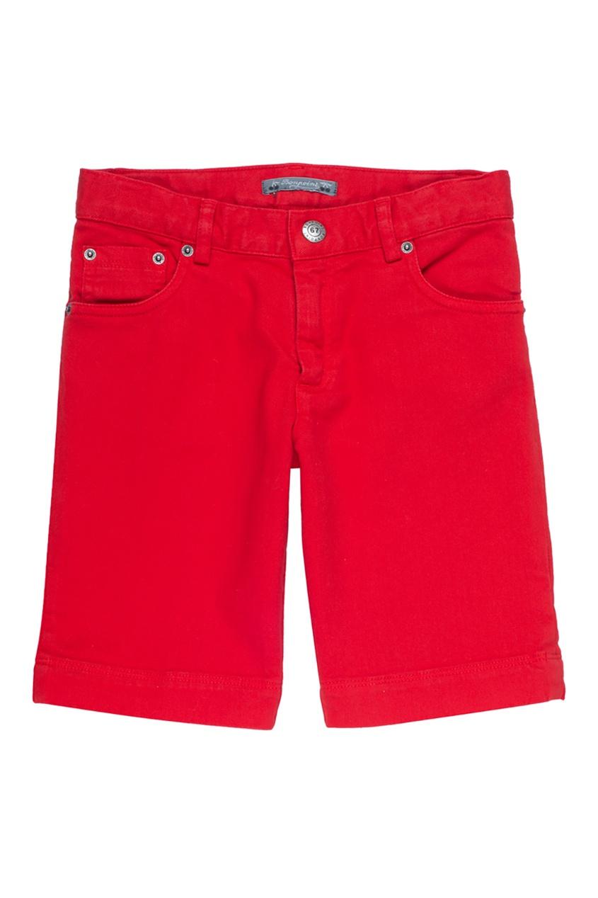 Bonpoint Шорты красные COOPER bonpoint шорты из денима endy