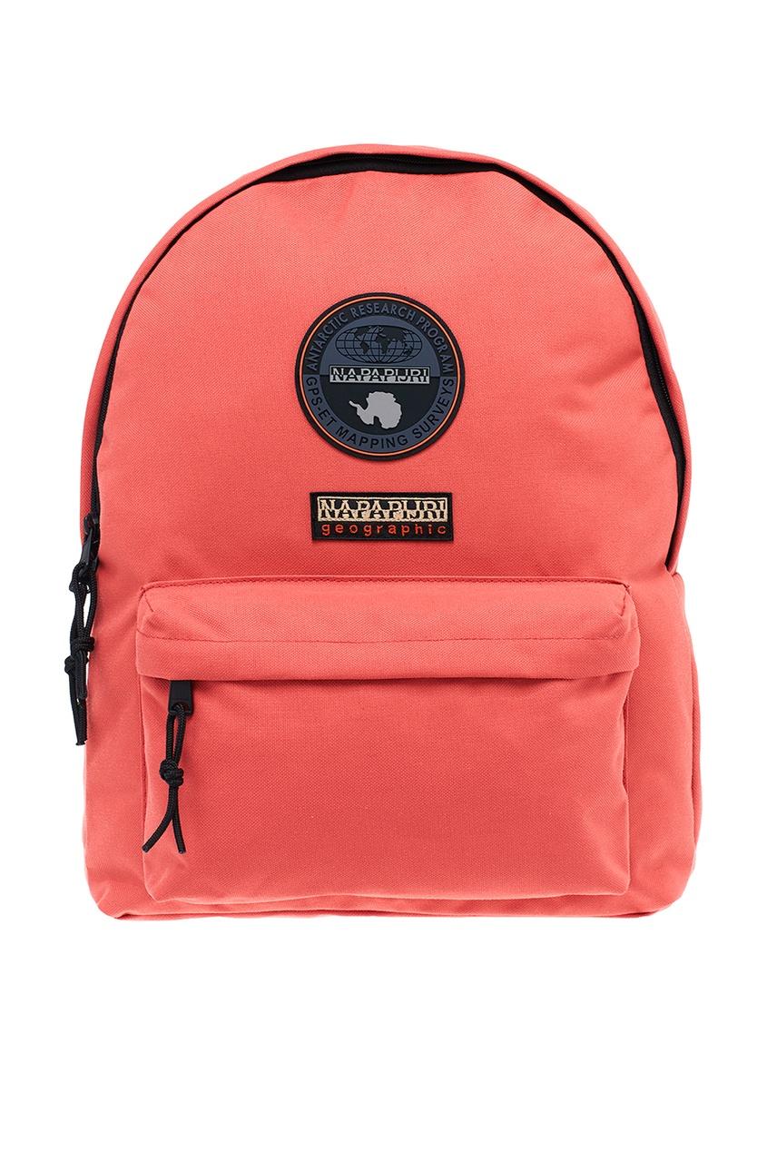 Красный рюкзак с нашивками