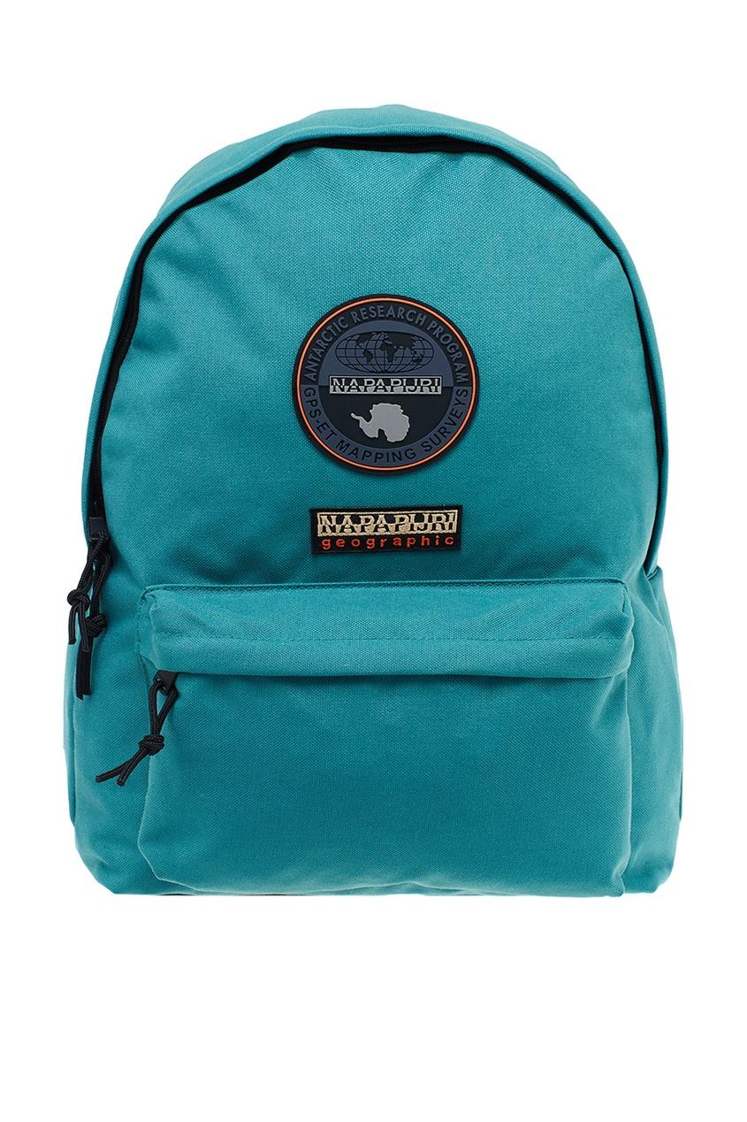 Зеленый рюкзак с нашивками