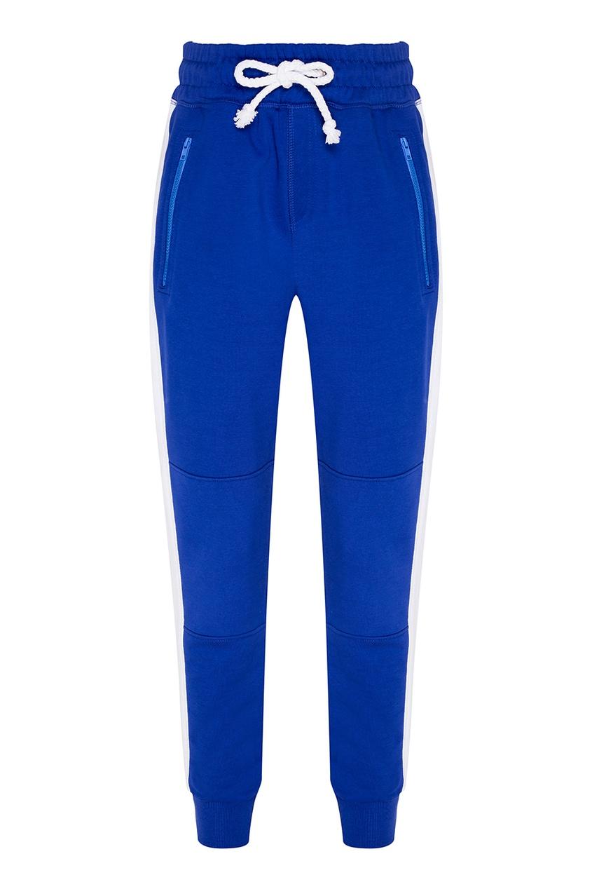 ARTEM KRIVDA Синие спортивные брюки из хлопка bonpoint спортивные брюки синие