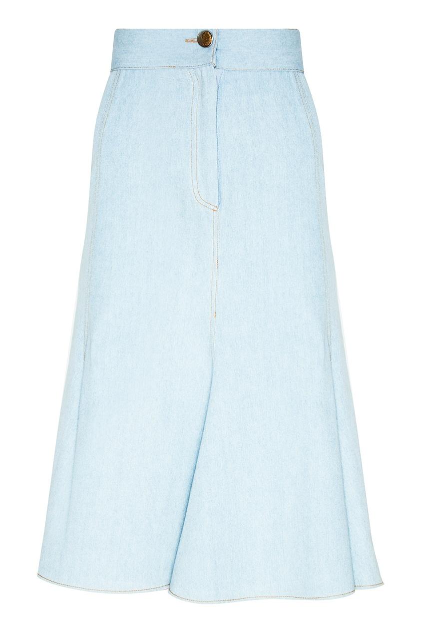 Джинсовая юбка-годе
