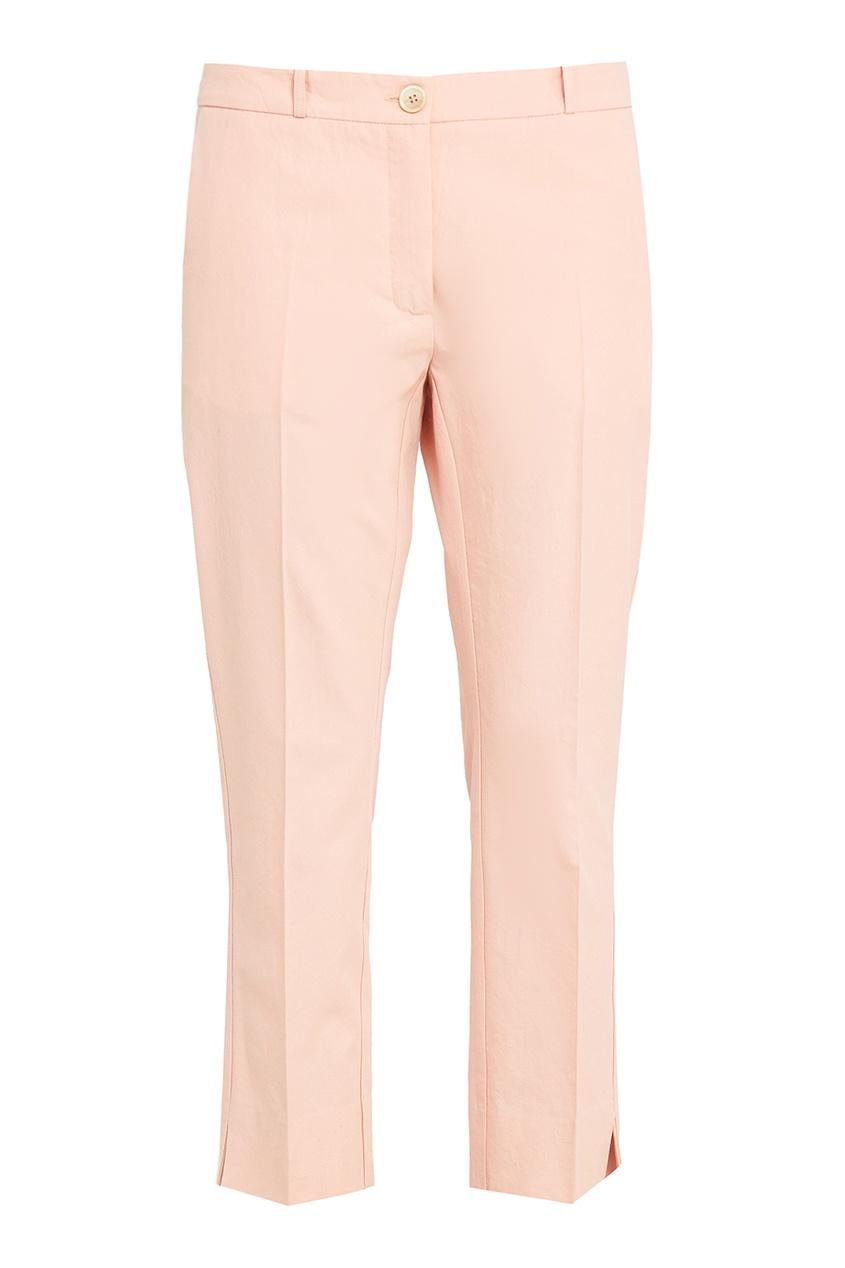 Укороченные розовые брюки
