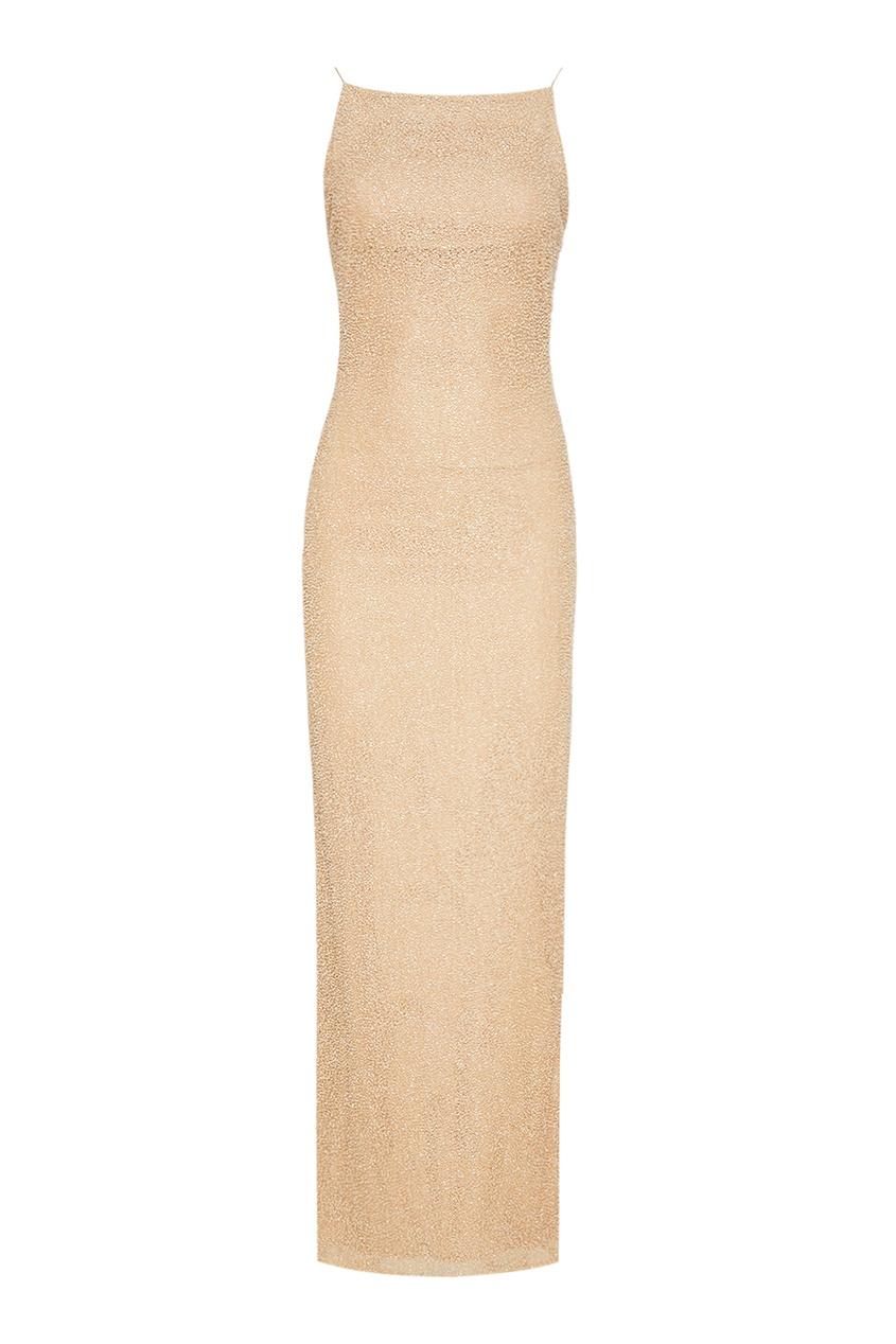 Вечернее платье-макси с бисером