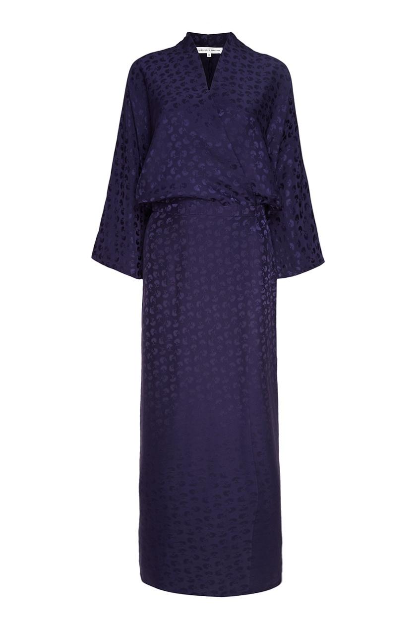 Alexander Terekhov Шелковое платье-кимоно