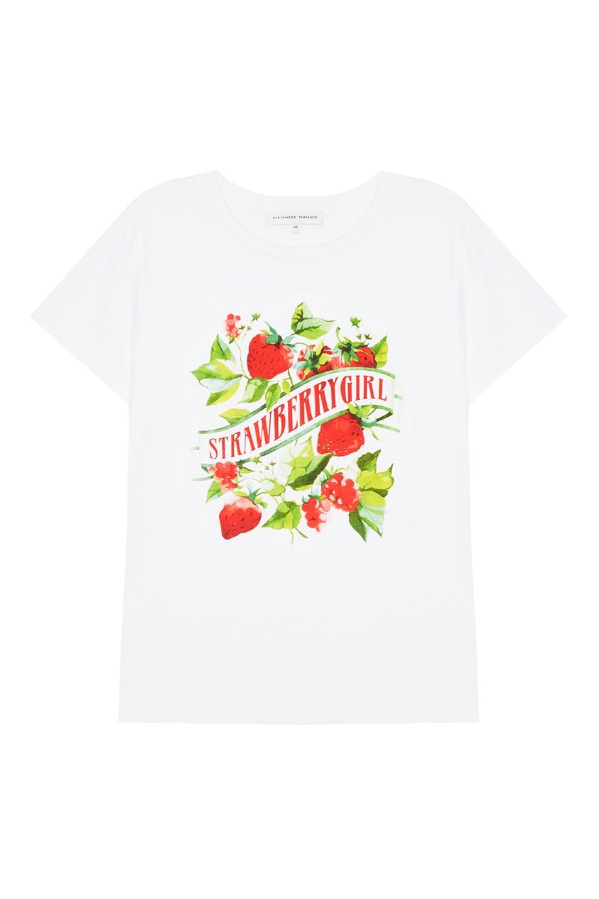 Alexander Terekhov Белая футболка с ярким принтом футболка белая с ярким принтом catimini ут 00011630