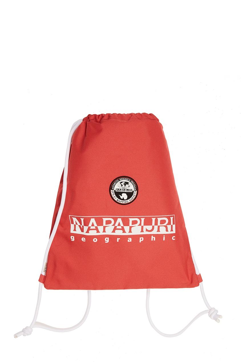 Текстильный красный рюкзак