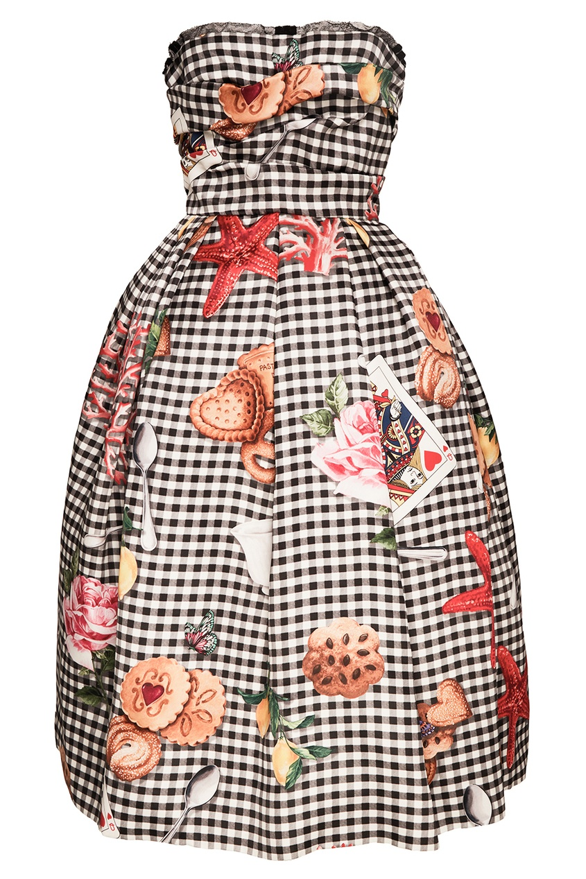 Пышное платье из шелка