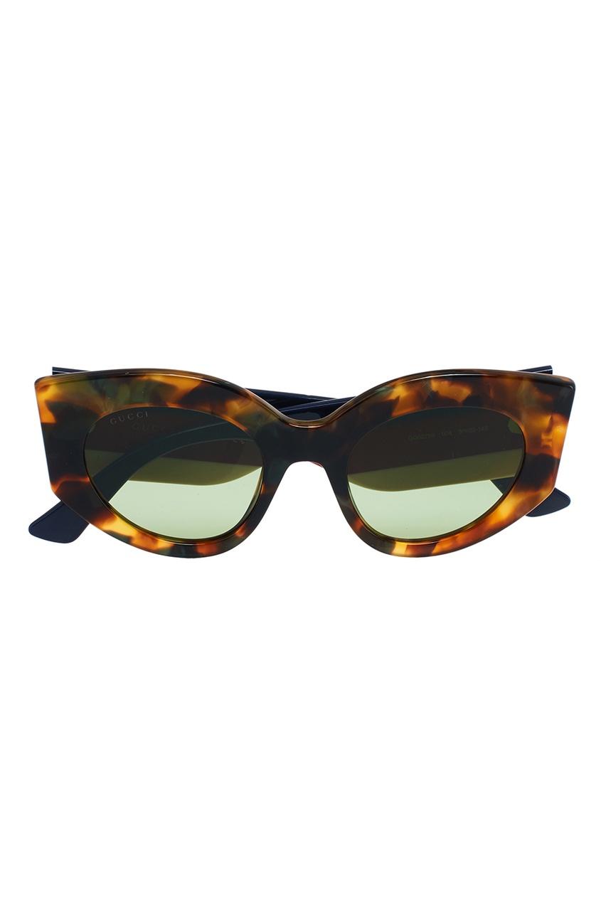 Gucci Солнцезащитные очки «кошачий глаз» приколы дебильные очки с изображением глаз купить в новосибирске