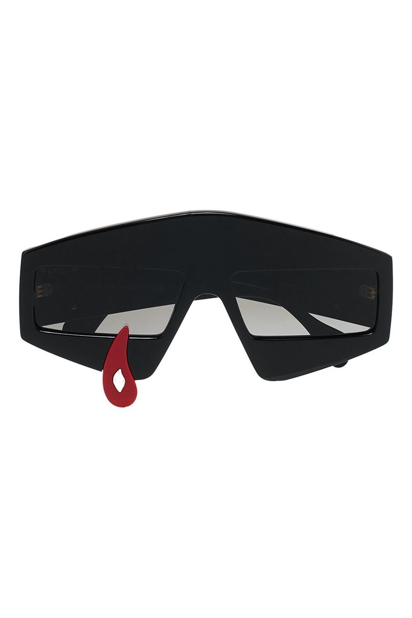 Черные очки с контрастным декором