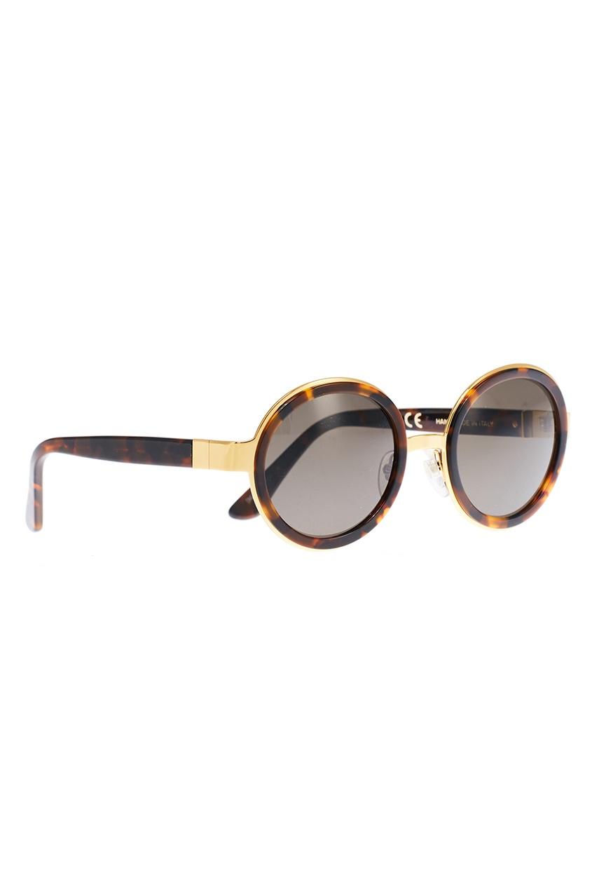 Круглые очки черепахового цвета