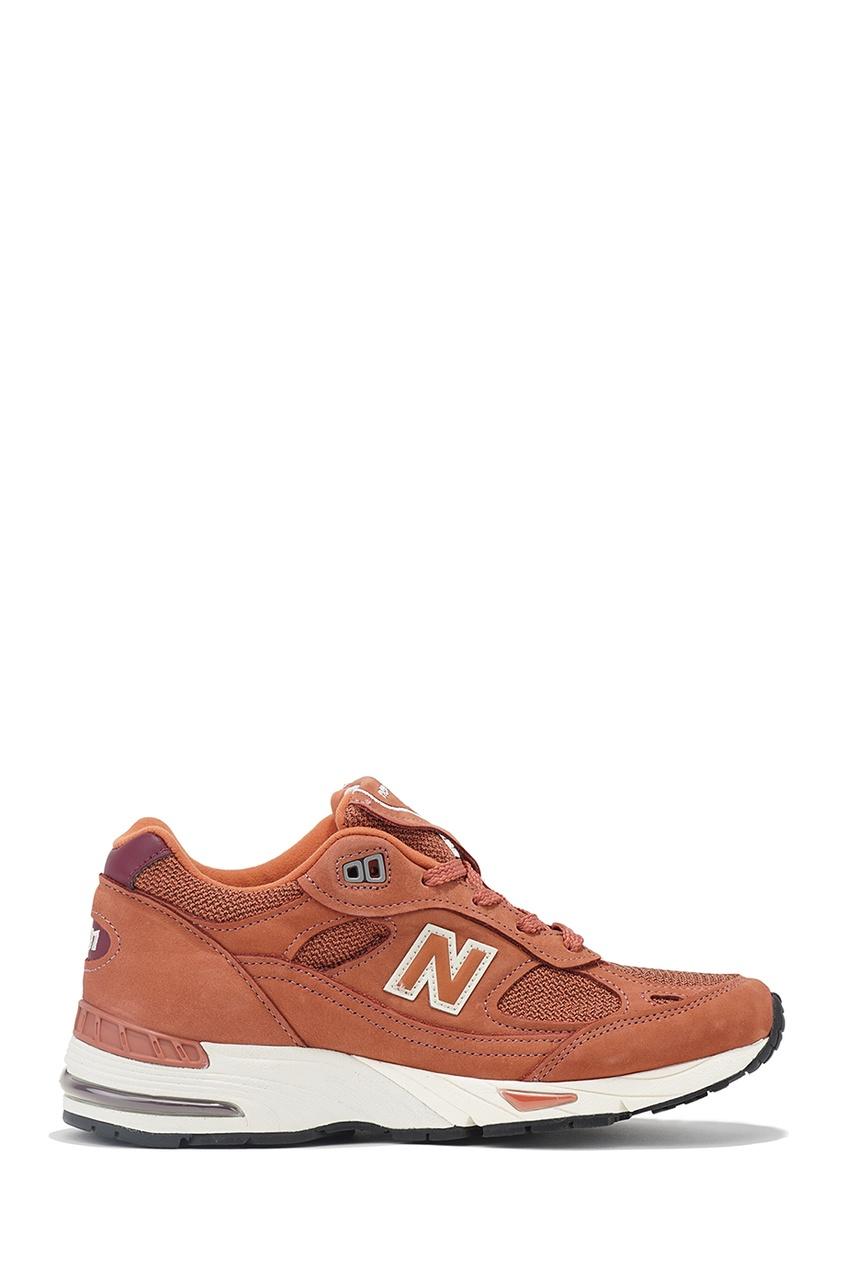 New Balance Коричневые кроссовки 991 купить new balance u420ukg в сургуте