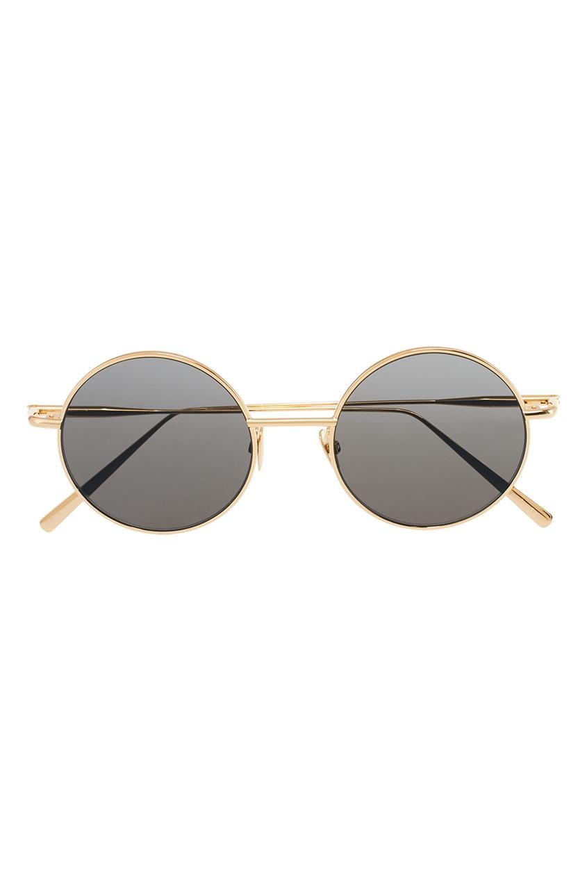 Круглые очки в золотистой оправе Scientist