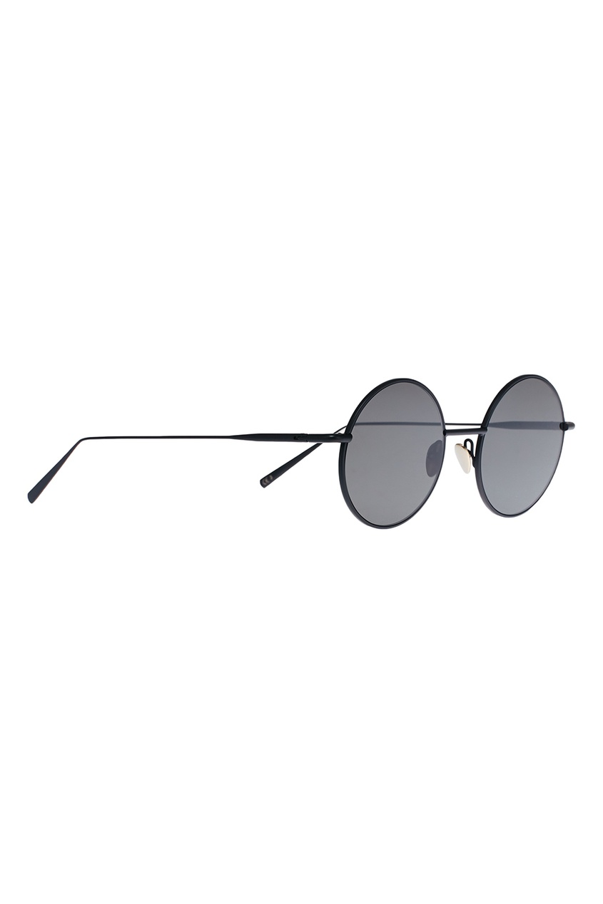 Круглые очки в черной оправе Scientist