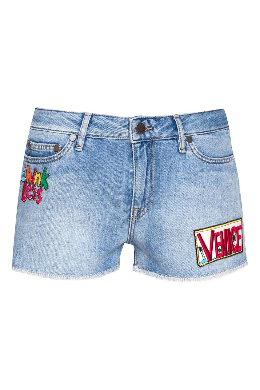 Mira Mikati Джинсовые шорты-мини с нашивками mira mikati повседневные брюки