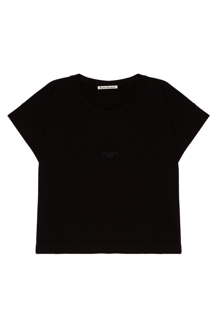 Acne Studios Черная хлопковая футболка Tohnek acne studios зеленая хлопковая футболка nash