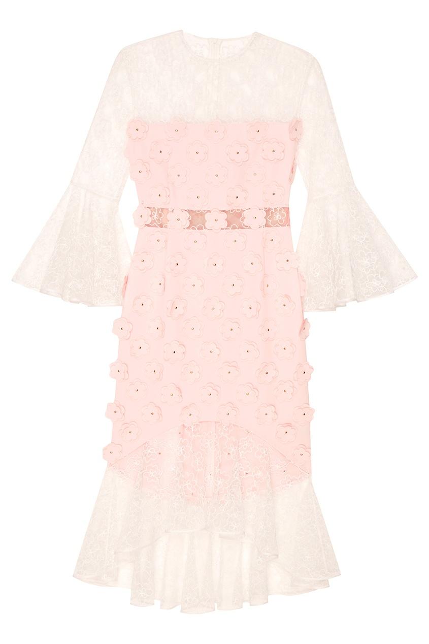 Esve Кружевное розовое платье Тюльпан esve платье с пайетками
