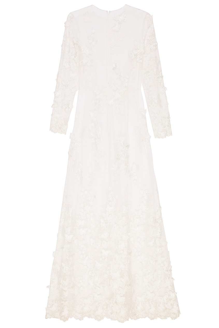 A LA RUSSE Белое платье-макси с бабочками