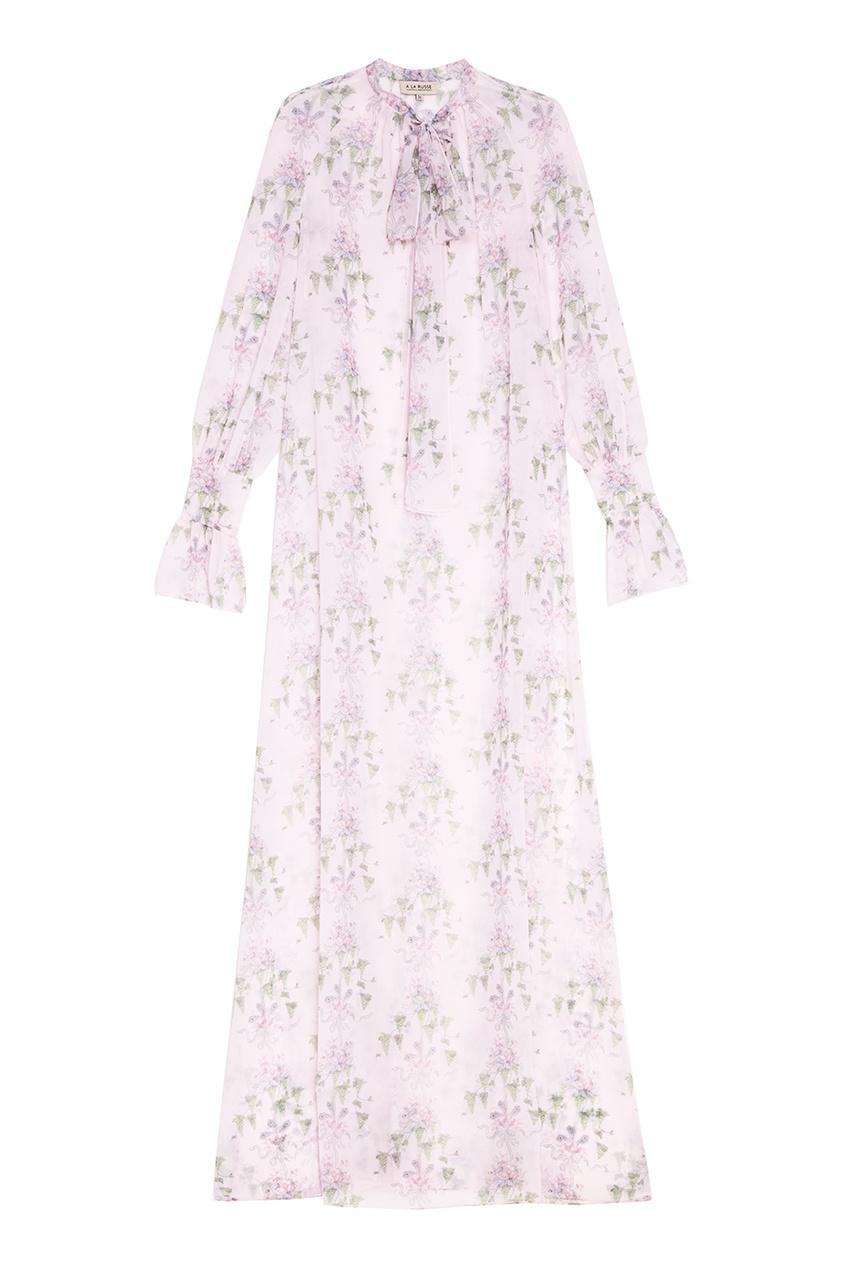 A LA RUSSE Шифоновое платье с цветочным принтом платье с цветочным принтом