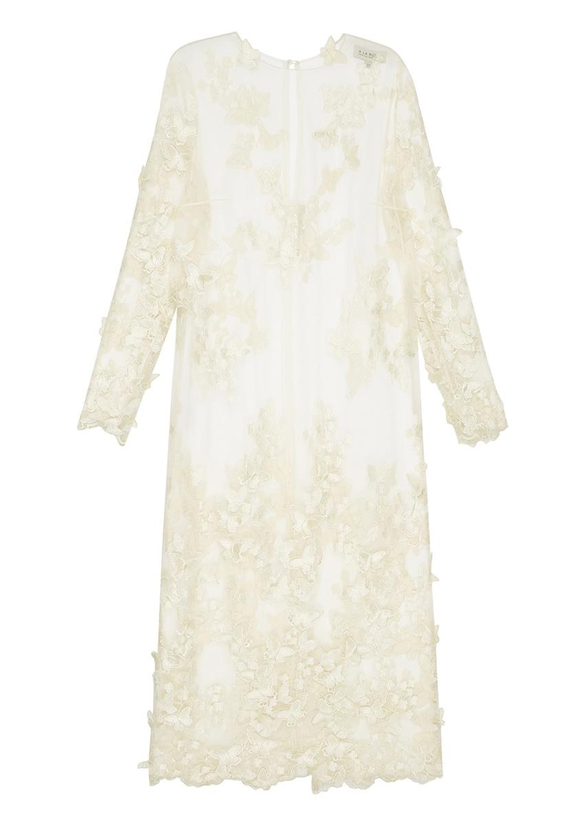 A LA RUSSE Платье с объемными бабочками