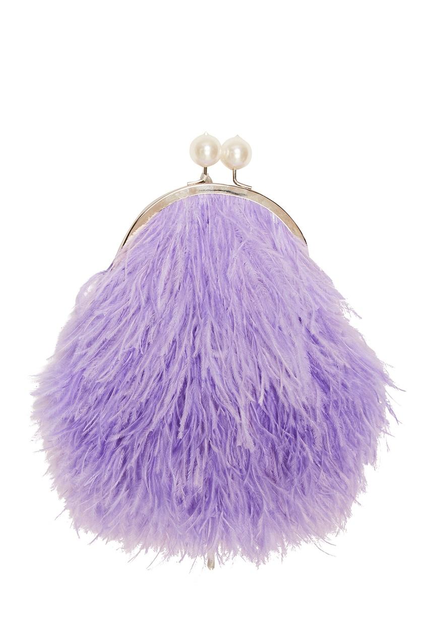 Esve Клатч из перьев марабу Lavanda одеяло лавандового цвета с принтом brums ут 00011835