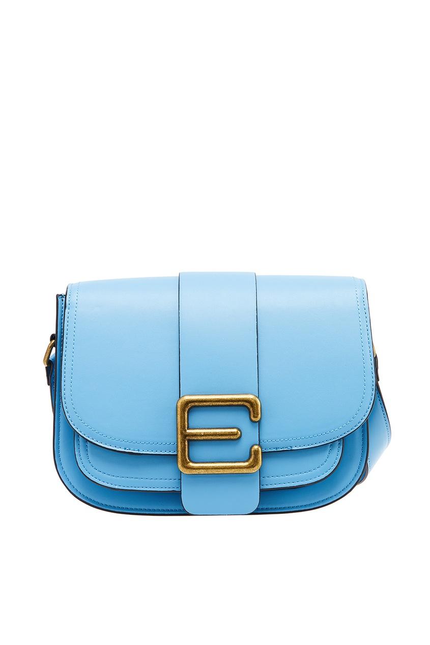 Essentiel Antwerp Голубая сумка с клапаном