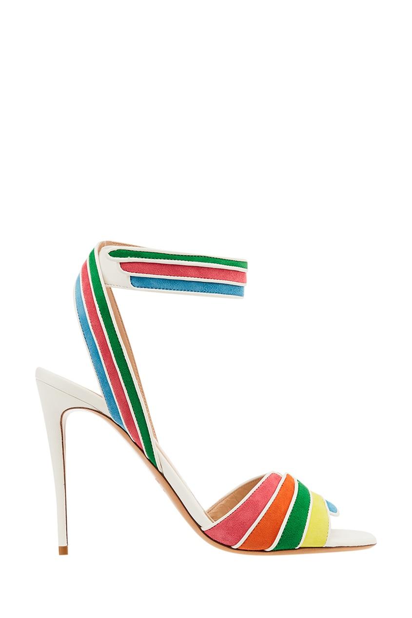 Босоножки с разноцветными полосками Garavani от Valentino
