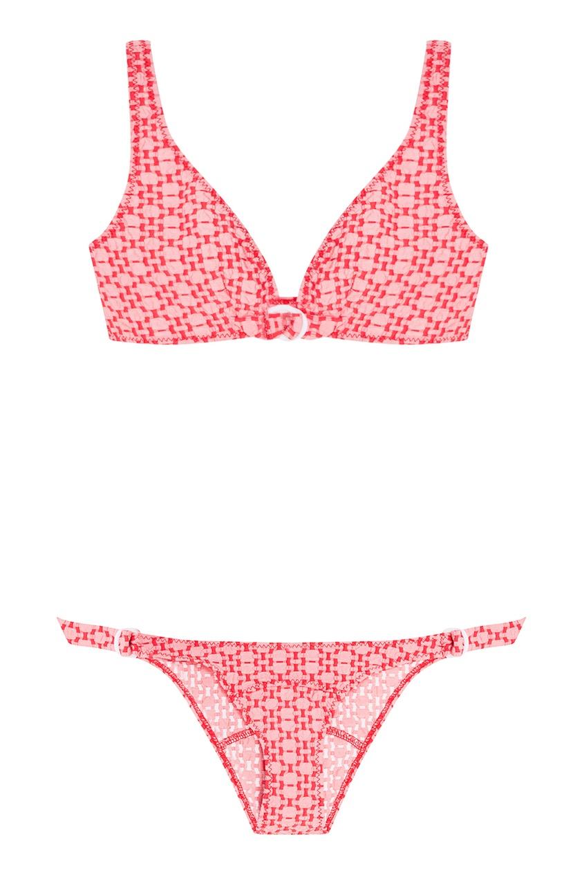 Lisa Marie Fernandez Красный раздельный купальник lisa marie fernandez короткое платье