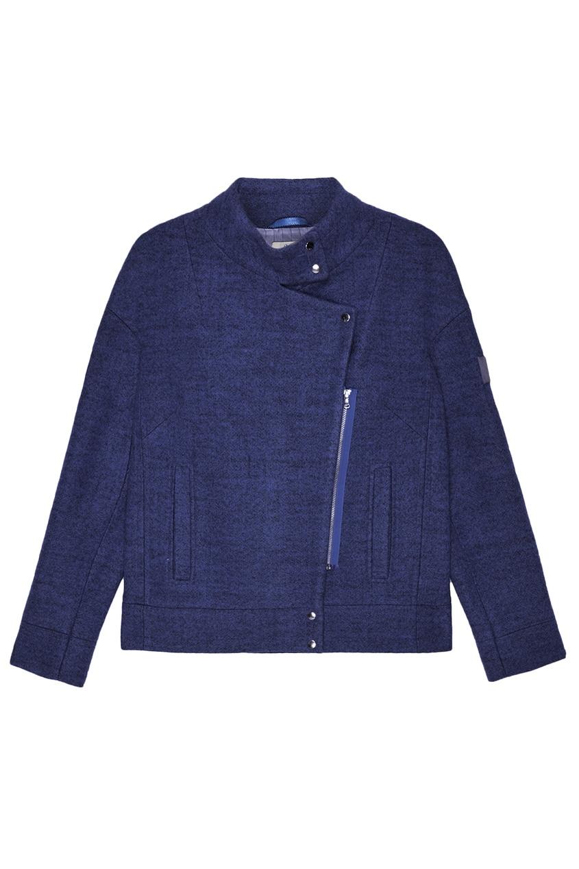 NOVAYA Синяя меланжевая куртка novaya свитшот со складкой на спине