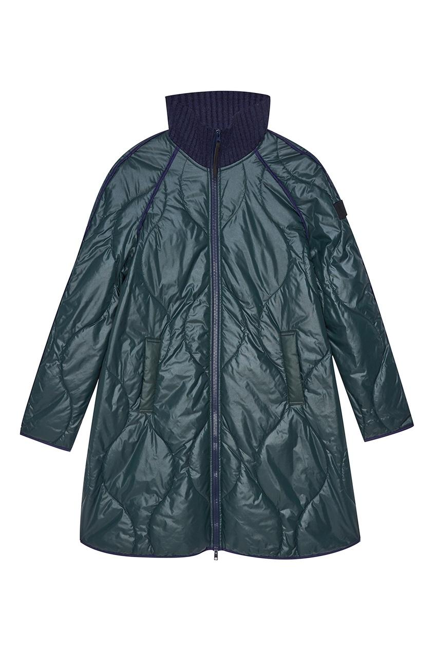 NOVAYA Легкое стеганое пальто зеленого цвета